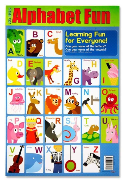 Clever Kidz Wall Chart - Alphabet Fun