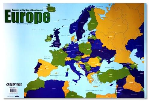 Clever Kidz Wall Chart - Map Of Europe