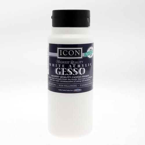 Icon Craft 500Ml Acrylic Gesso Canvas Primer - White