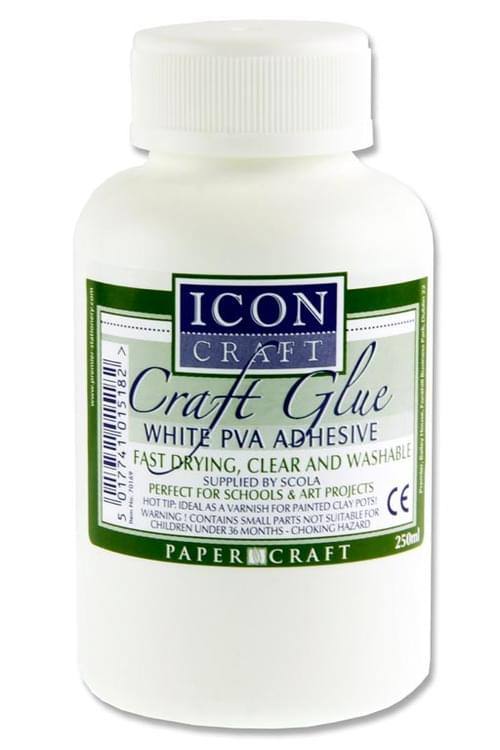 Icon Craft 250Ml Pva Craft Glue W/Brush