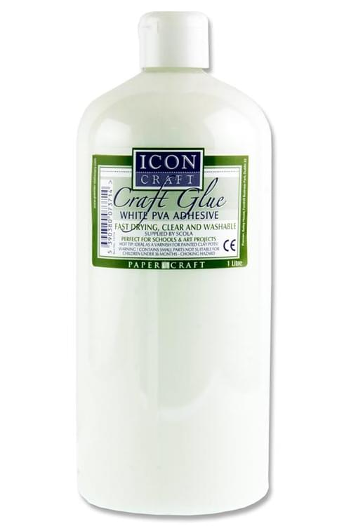 Icon Craft Pva Craft Glue - 1Ltr