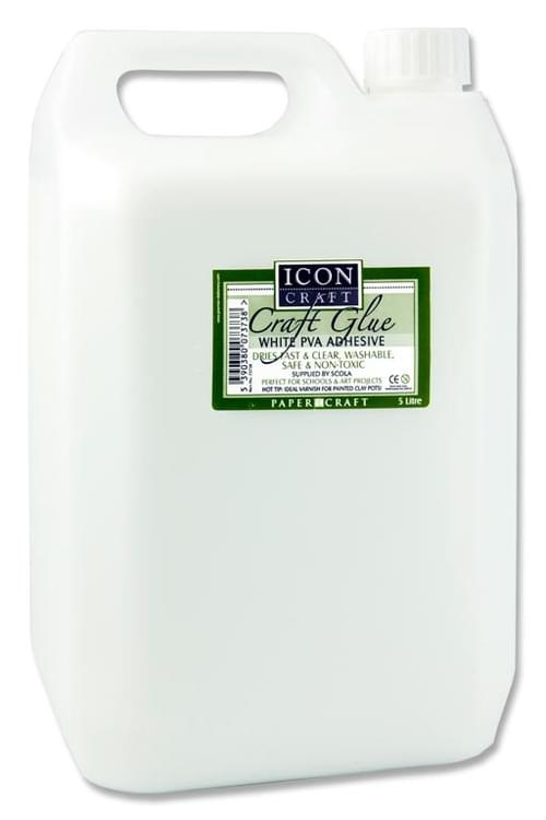 Icon Craft Pva Craft Glue - 5Ltr