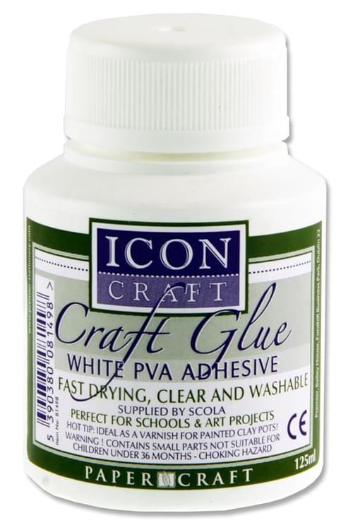 Icon Craft 125Ml Pva Craft Glue W/Brush