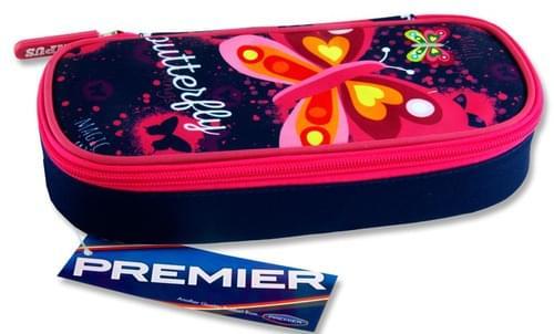 Premier Oval Pencil Case - Butterfly