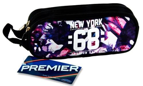 Premier Oval 2 Pocket Pencil Case - New York 68