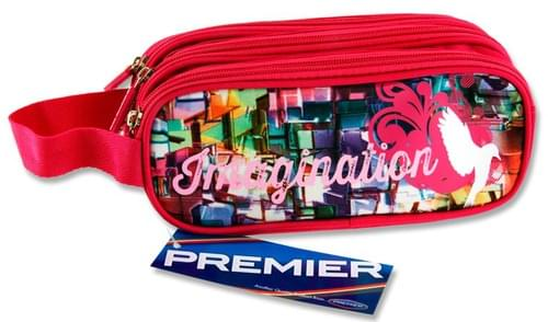 Premier Oval 3 Pocket Pencil Case - Imagination