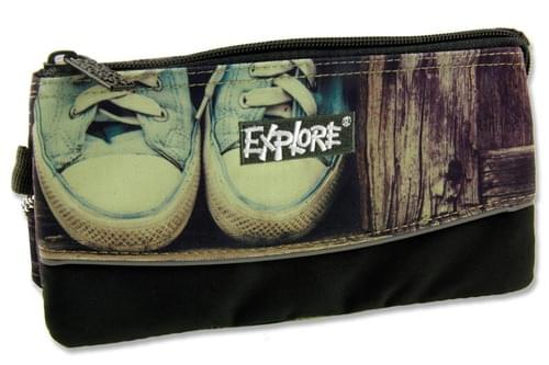 Explore 3 Pocket Pencil Case - Shoes