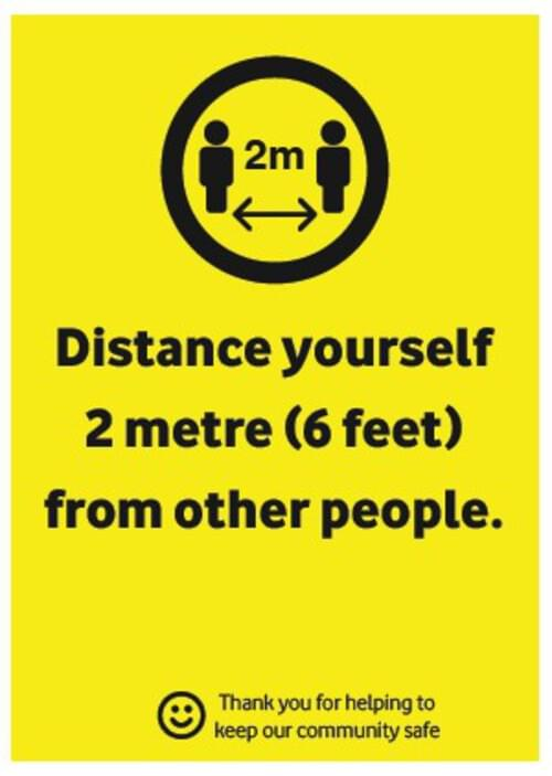 Distance Yourself - Corriboard Sign - Own Manufacturer - COR1 - McArdle Computer & Office Supplies