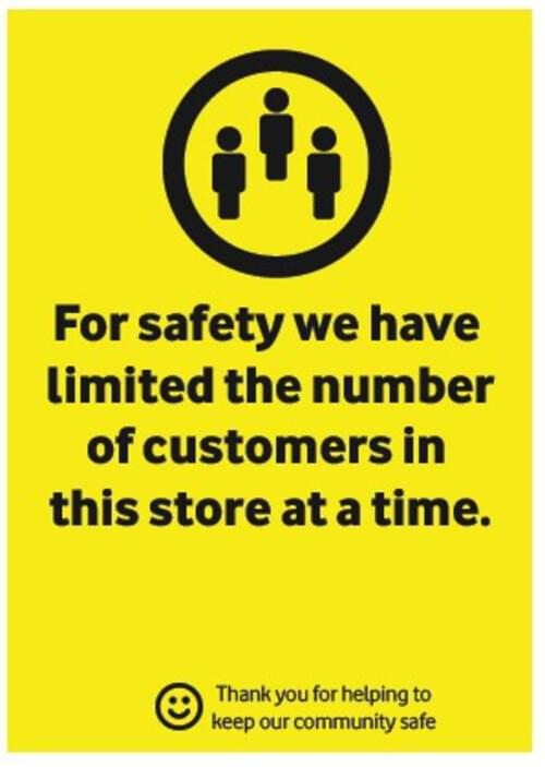 Customer Numbers - Corriboard Sign - Own Manufacturer - COR2 - McArdle Computer & Office Supplies