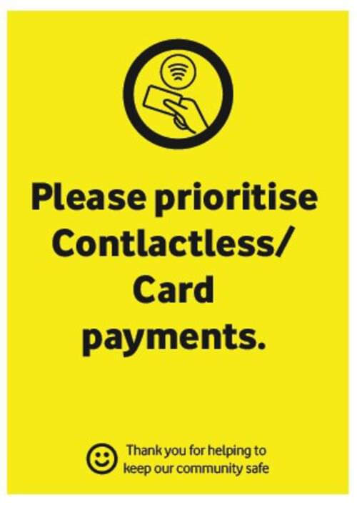 Card Payments - Corriboard Sign - Own Manufacturer - COR4 - McArdle Computer & Office Supplies