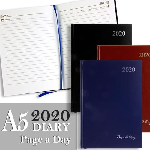 Premier 2020 A5 Diary - Page A Day 3 Asst