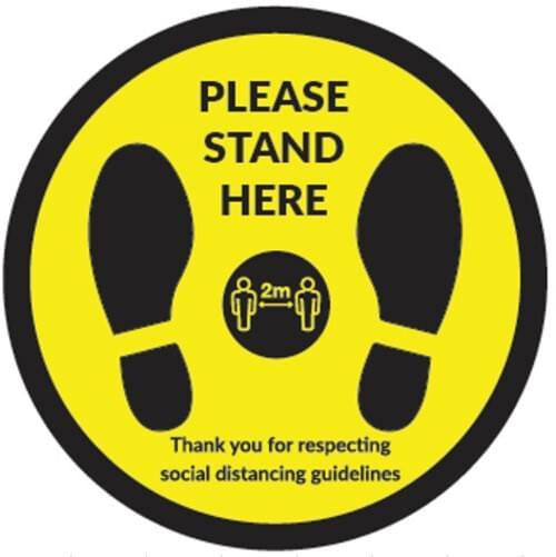Please Stand Here - Floor Sticker