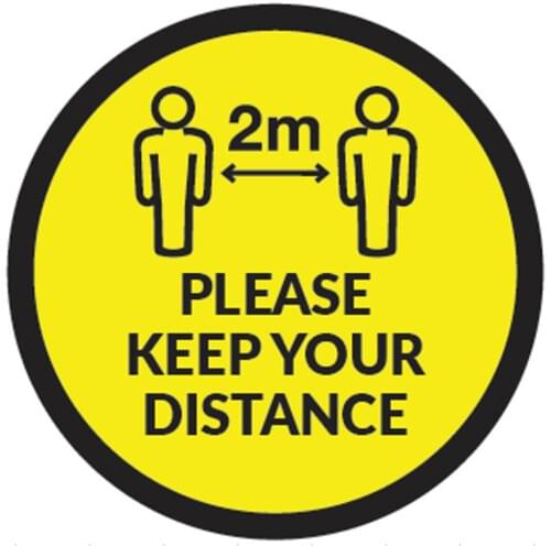 Please Keep Your Distance - Floor Sticker - Own Manufacturer - FS1B - McArdle Computer & Office Supplies