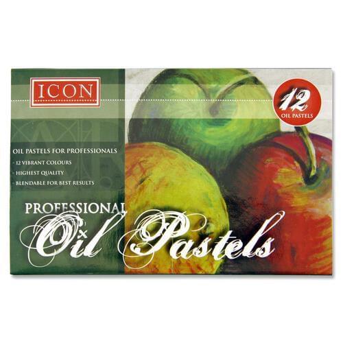 Icon Box 12 Professional Oil Pastels