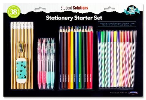 Student Solutions 38Pce Bumper Stationery Starter Set