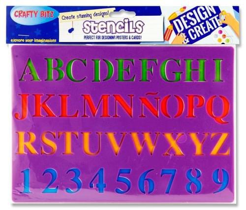 Crafty Bitz 185X265Mm Stencil - Letters 2