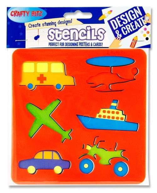 Crafty Bitz 150X150Mm Stencil - Transportation