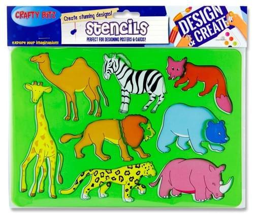 Crafty Bitz 185X265Mm Stencil - Wild Animals 2
