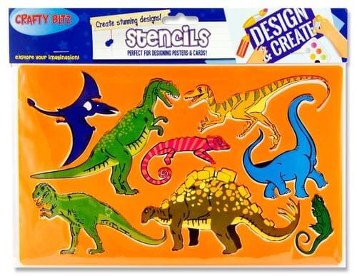 Crafty Bitz 185X265Mm Stencil - Dinosaur