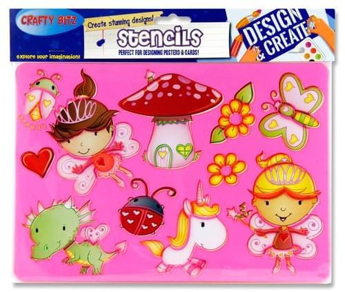 Crafty Bitz 185X265Mm Stencil - Princess