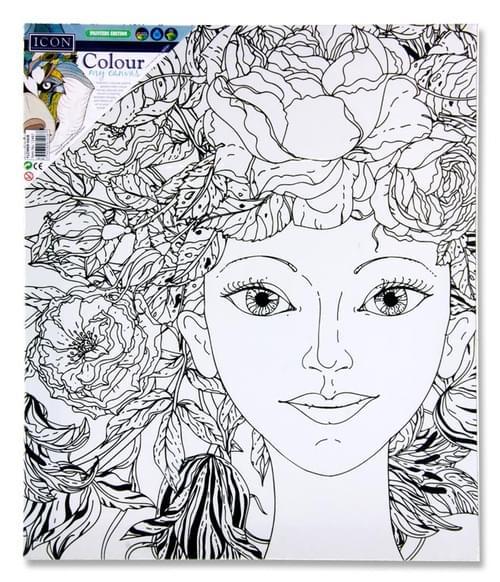 Icon 250X300Mm Colour My Canvas - Flower Hair