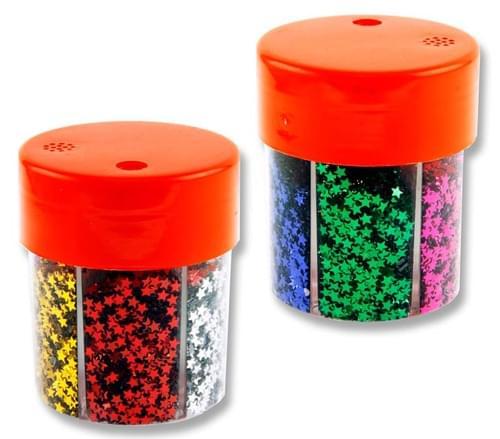 Icon 6 Part Glitter Shaker - Stars