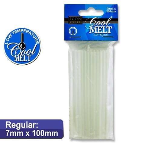 Icon Craft Pack of 12 Cool Melt 7X100Mm Glue Gun Refills