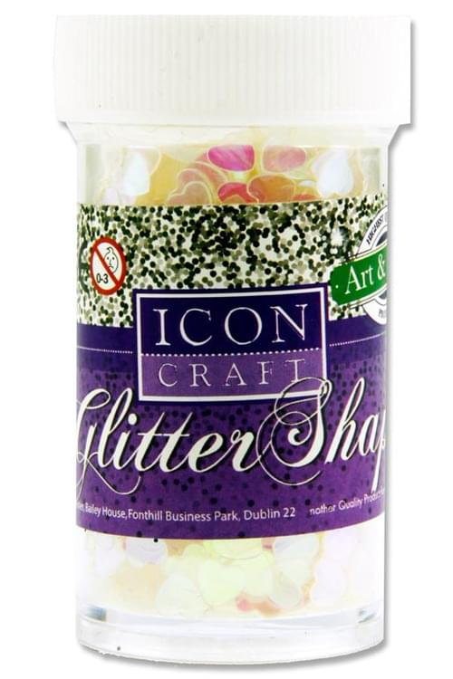 Icon Craft 20G Glitter Shapes - Iridescent Hearts