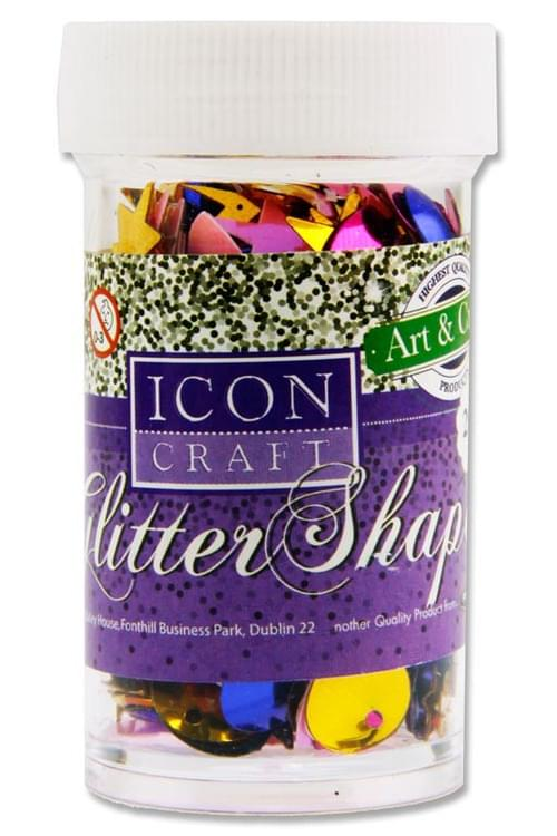 Icon Craft 20G Glitter Shapes - Assorted Shapes