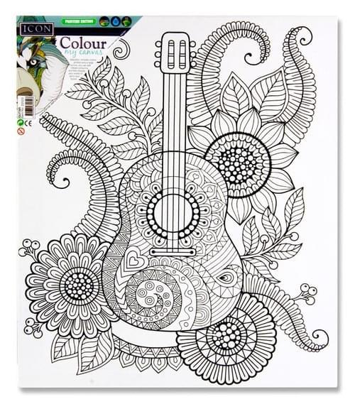 Icon 300X250Mm Colour My Canvas - Guitar