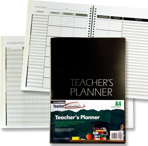 Student Solutions A4 Teacher'S Planner - Pp Cover Black