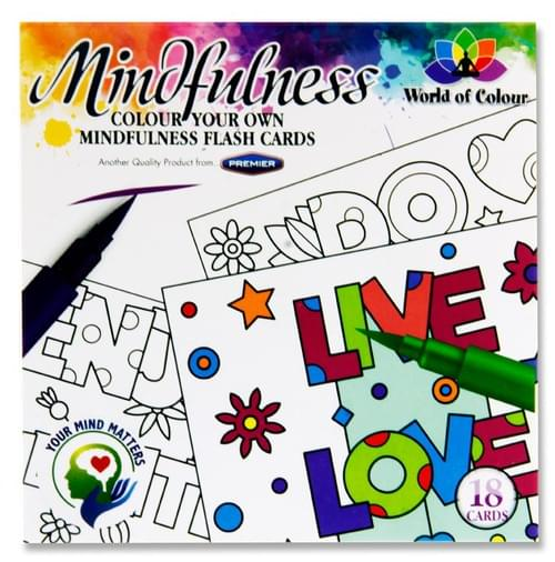 Woc Book 18 100X100Mm Colour Your Own Mindfulness Flash Cards