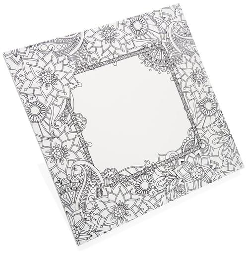 Icon 300X300Mm Colour My Canvas - Floral Frame