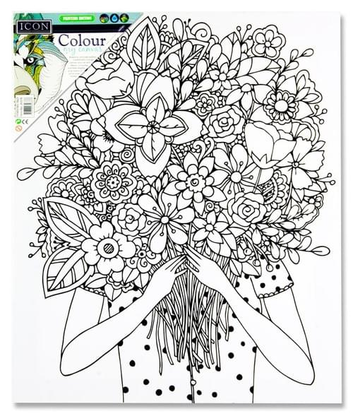 Icon 300X250Mm Colour My Canvas - Flower Face