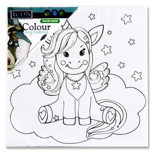 Icon 100X100Mm Colour My Canvas - Unicorn