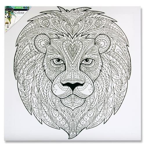 Icon 500X500Mm Colour My Canvas - Lion