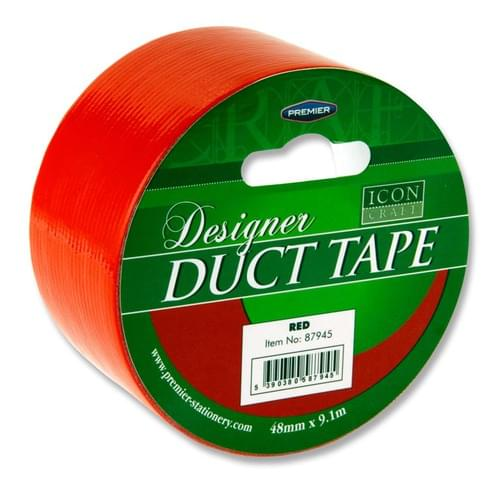Icon Craft Designer Duct Tape 48Mm X 9M - Red