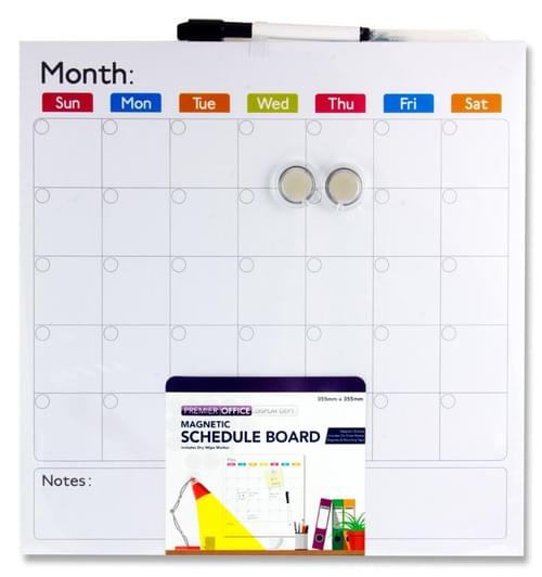 Premier Office 355X355Mm Magnetic Schedule Board