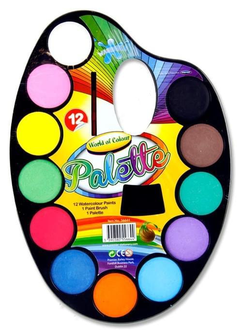 Woc 14Pce Watercolour Paint Palette Set