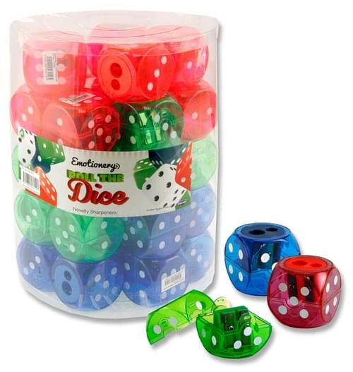 Emotionery Twin Hole Dice Sharpener 3 Asst.