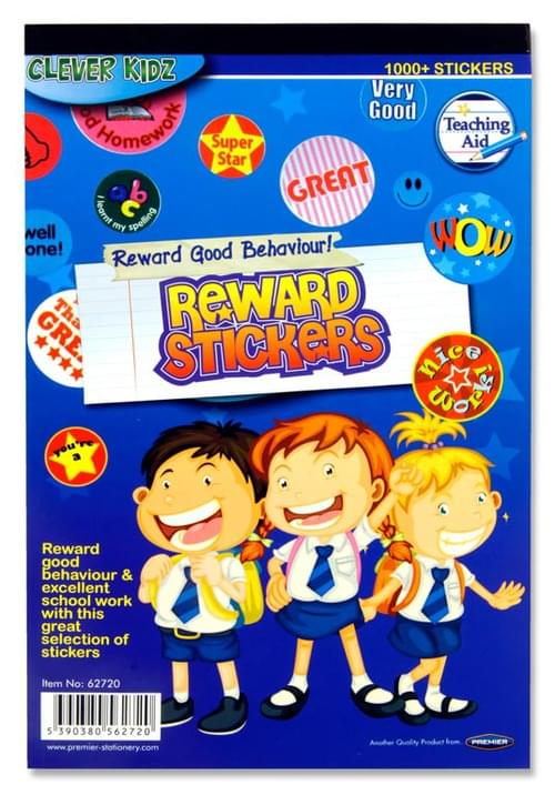 Clever Kidz Pad 1000+ Reward Stickers