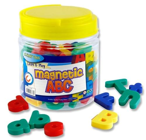 Clever Kidz Tub 68 Magnetic Abc Letters & Numbers