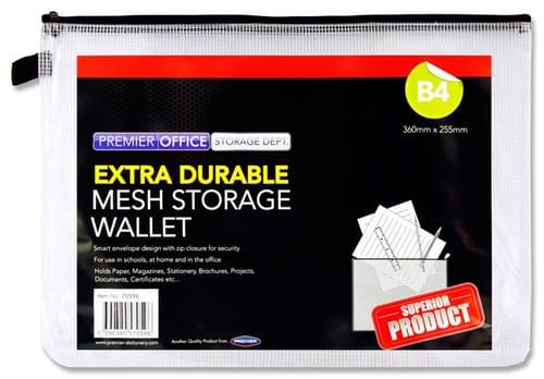 Premto B4 Extra Durable Expanding Wallet- Clear Pearl