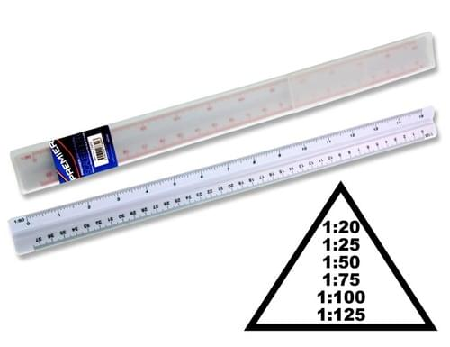 Premier Universal 30Cm Triangular Scale Ruler In Case