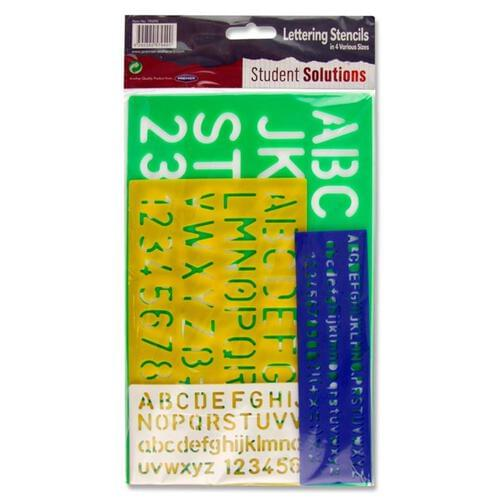 Student Solutions Set Of 4 Lettering Stencils