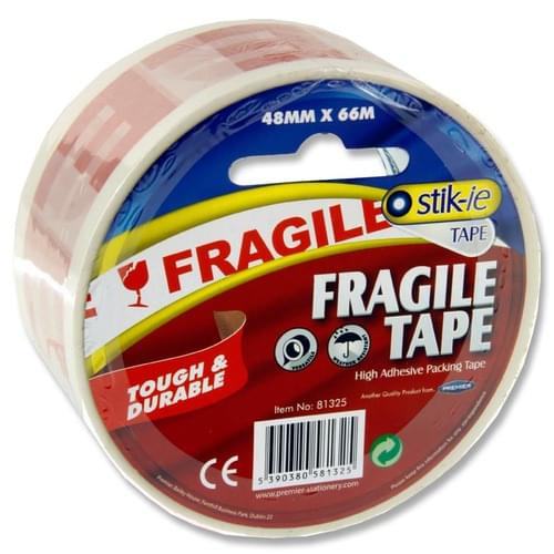 Stik-Ie Fragile Packing Tape 48Mm X 66M