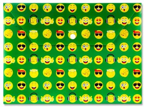 Premier A4 Pp Button Wallet - Emoji