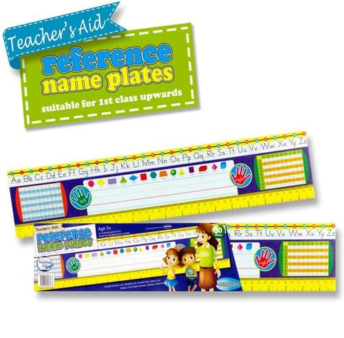 """Clever Kidz Teacher'S Aid Reference Name Plates 3.75""""X18"""" - 1St Class +"""