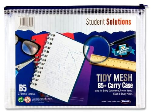 Student Solutions B5+ Tidy Mesh Zipped Wallet