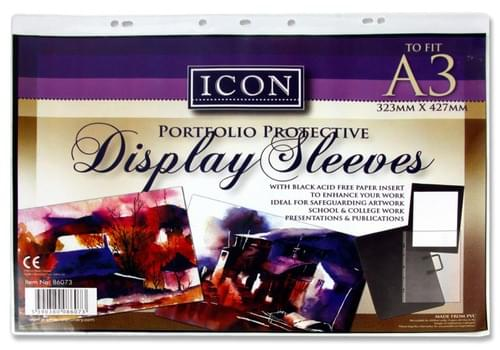 Icon Pocket Display Sleeve For Art Case - A3